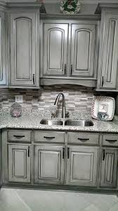 grey distressed kitchen cabinets pretty valspar aspen gray glazed in black gorgeous work of the