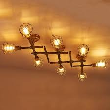 industrial semi flush mount lighting fashion style semi flush mount ceiling lights cone cage