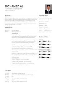resume format sle for experienced glass design engineer resume sles visualcv resume sles database