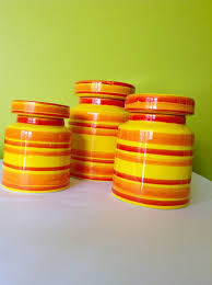 funky kitchen canisters 3 x baldelli ceramic canisters italy 655 vintage bright funky