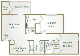 Two Bedroom Apartments Floor Plans Farmville Two Bedroom Apartment Poplar Forest Apartment Floor