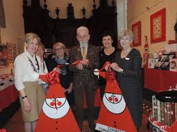 sir roy strong opens hereford charity christmas card shop