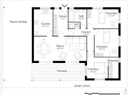 plan de maison plain pied 3 chambres avec garage plan maison plain pied avec 3 chambres ooreka