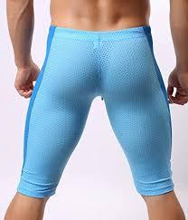 Light Blue Tights Brave Person Men U0027s Running Short Pants Tights For Training