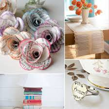 Upcycle Old Books - 21 uses for old books upcycle books and house
