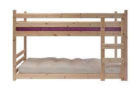 Low Level Futon Bunk Bed Strong Redwood Pine Bed Futon Mattresses - Low bunk beds