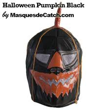 Black Mask Halloween Costume Pumpkin Black Mask Lucha Libre
