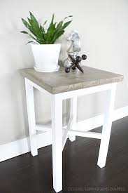 Concrete Side Table Side Table Makeover With Concrete Top Taryn Whiteaker