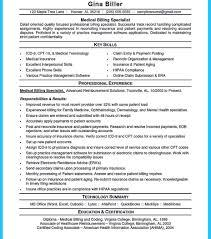 sample resume for medical billing and coding 69 images coder ex