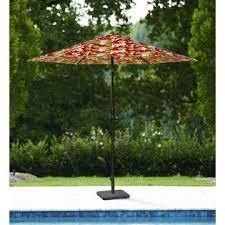 essential garden printed 9ft umbrella tropical floral outdoor