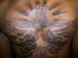 jesus cross tattoo on chest in 2017 real photo pictures images