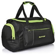 travel duffel bags images Suntop alive 40 litres 20 inch gym travel duffel bag black neon g jpg