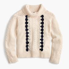 cable sweater embellished cable sweater pullovers j crew