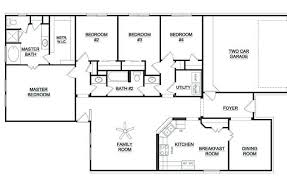 one story four bedroom house plans single story 5 bedroom floor plans one story 4 bedroom house plans