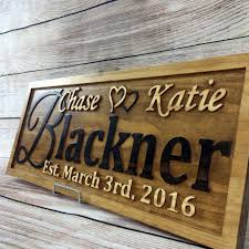 personlized wedding gifts buy a handmade personalized wedding gift family name sign custom