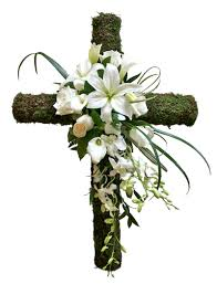 cross with flowers pictures cross danielson flowers photo