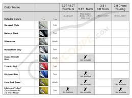 2010 genesis coupe interior exterior color combination chart