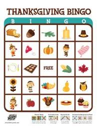 printable bingo for for thanksgiving happy thanksgiving