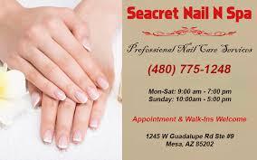 nail salon mesa nail salon 85202 seacret nail n spa