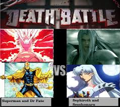 Sephiroth Meme - superman and dr fate vs sephiroth and sesshomaru by