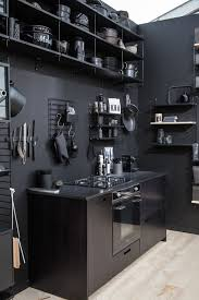 kitchen design open shelves for wine and books built in