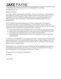 cover letter assistant best retail assistant manager cover letter exles livecareer