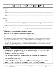 Free Texas Durable Power Of Attorney Forms To Print by Blank Eviction Notice Form Free Word Templates Tenant Eviction
