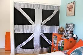 Curtains For A Closet by Union Jack Inspired Closet Curtains For Boys Room U2013 Modernshelterblog