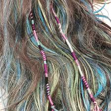 hippie hair wrap purple color scheme hippie hair extension qty 1