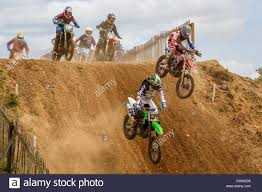 freestyle motocross uk riders take the drop during the eastern centre acu junior solo