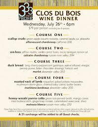 corvette diner menu prices clos du bois wine dinner at 333 cohn restaurant