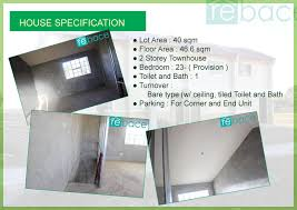 house specs luzon rent to own houses buenavista townhomes affordable