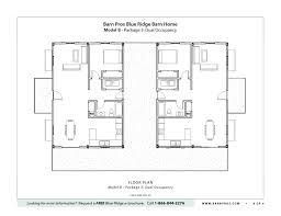 Barn Floor Plans Blue Ridge Barn Model B