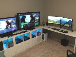 Paragon Gaming Desk Furniture Triathlon Room Battlestation Along With