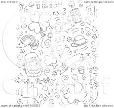 cartoon clipart of a black and white holiday doodle background of