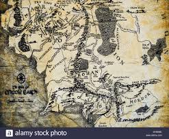map from lord of the rings map of middle earth from the lord of the rings by jrr tolkien