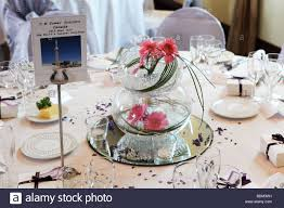 wedding breakfast reception table decorations closeup table name