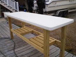 How To Make A Fish Cleaning Table Description From Darkbrownhairs - Fish cleaning table design