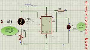 Solar Street Light Circuit Diagram by Automatic Street Light Using Ic 555 Youtube