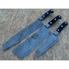 Handmade Kitchen Knives Uk Damascus Kitchen Knives Kitchen Knife Set 3 Custom Handmade Steel