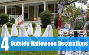 Yard Halloween Decorations How To Make Outside Halloween Decorations Easy Outdoor Halloween