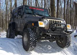 jeep bumper jeep tj yj standard front bumper winch guard hyline offroad