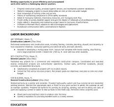 sample resume laborer construction laborer resume sample cover