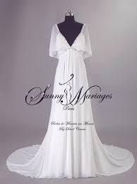 robe de mariã e sur mesure pas cher robe de mariage empire boheme chic en mousseline sur mesure
