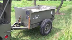 1941 willys mb and 1943 converto airborne dump trailer youtube