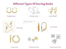 different types of earrings now to keep these awesome earrings on the place there are