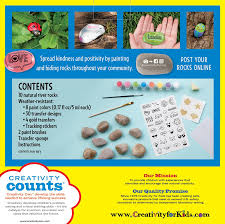 amazon com creativity for kids hide and seek rock painting kit