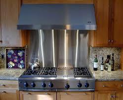 Stainless Steel Backsplashes For Kitchens Stainless Steel Backsplash For Kitchen Leandrocortese Info