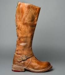womens boots distressed leather glaye rustic distressed leather zipper adjustable calf