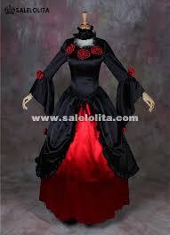 Black Wedding Dress Halloween Costume Black Red Vampire Halloween Dresses Southern Belle